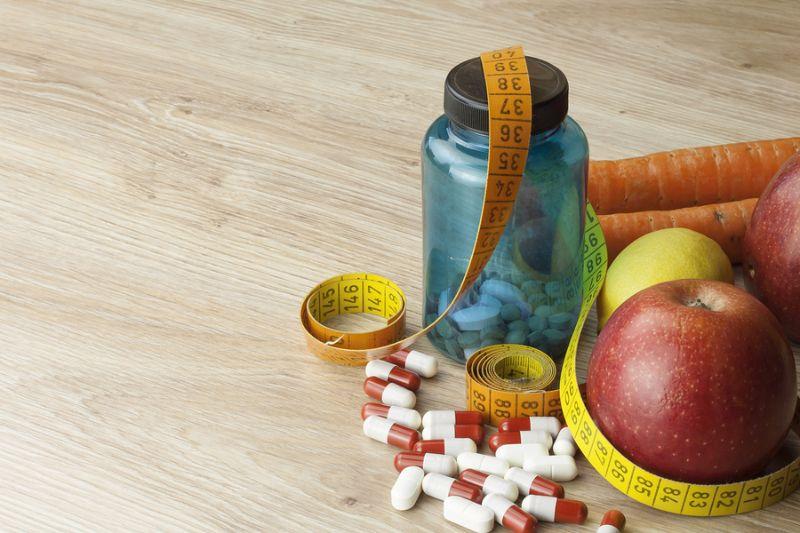diet food, apple juice, vegetables and fruits, concept diet, vit